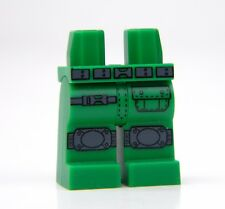 Custom Green LEGO Army Tactical Legs with direct printed kneepads