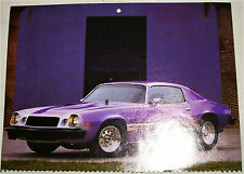 1974 Chevrolet Camaro ht car print (modified, purple)