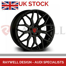 "20"" Audi A4 S4 RS4 A5 S5 RS5 Black Alloy Wheels ET40 Raywell Design JRR 5x112"