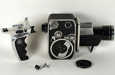 Bolex Paillard 8mm P1 Reflex Film Movie Camera w/ Original Leather Case Vintage
