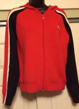 Puma Black Red Slim Fit Hooded Sweater Jacket Sz Medium Hoodie