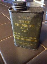 1972 US ARMY ISSUE MILITARY RIFLE BORE CLEANER 6oz  TIN Only ! Vietnam era