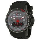 Morphic M23 Black IP Steel Case Gray Patterned Dial Chronograph Mens Watch 2309