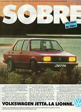 Publicité Advertising 1981 VOLKSWAGEN JETTA  DIESEL  VW
