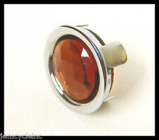 VINTAGE AMBER GLASS JEWEL DOT REFLECTOR FOR HARLEY TAIL LIGHT TURN SIGNAL LENS