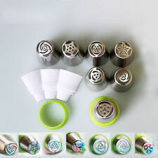3-Color Icing Piping Bag Russian Nozzle Converter Coupler Cake Cream Decor New