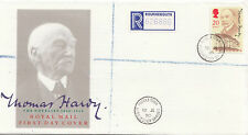 GB: 1990 Thomas Hardy-Royal Mail-Registrati-puddletown/Dorchester S/Anello