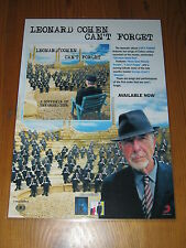LEONARD COHEN - CAN'T FORGET  -  Laminated Promo Poster