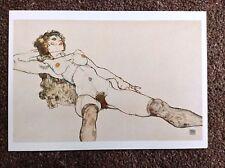 Egon Schiele Vintage POSTCARD 2003 Art Expressionism Reclining Female Nude Legs