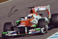 Paul Di Resta Signed 8X12 Inches Force India 2012 F1 Photo