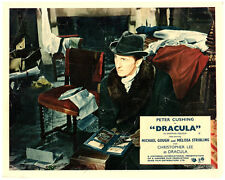 Dracula 1957 original Hammer Horror lobby card Peter Cushing as Van Helsing