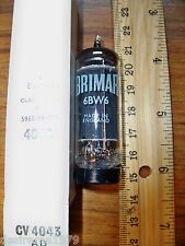 Strong NOS BRIMAR Black Plate O Getter CV 4043 / 6BW6 Tube - made in ENGLAND