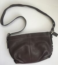 $298 AUTHENIC COACH DUFFLE BROWN PEBBLED LEATHER CROSS BODY SHOULDER BAG