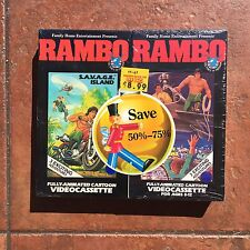 Rambo Animated Series Cartoon VHS Video Cassette Tapes SELAED NEW