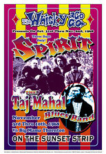 1960's Rock: Spirit & Taj Mahal Blues Band  at The Whisky Concert Poster 1968