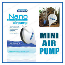 Interpet NANO AIR PUMP Compact Mini SLIM FISH TANK Small AIRPUMP OXYGEN BUBBLES