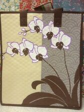 13X12X10 Large Insulated/Grocery Bag Haiku Orchid.