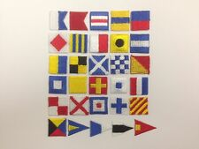 International Maritime Nautical Navy Signal Flags Letter A~Z Repeat Patch