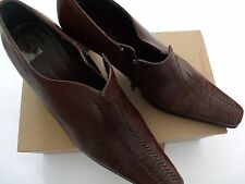 Stunning Brown Maris Leather Ankle Boots Shoes Size 40 uk 7 nwot