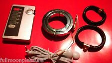 ELECTROSEX,TENS ENLARGEMENT SET WITH SCROTUM BALL STRETCHER+2 RUBBER RINGS+UNIT
