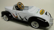 1940s Ford Pedal Car A Vintage Classic Hot T Rod Midget Metal Show Model White