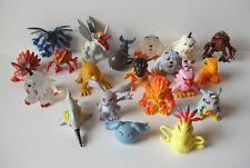 """Bandai Digimon lot of 20 mini action figures toys 1"""" Gabumon Agumon Greymon"""