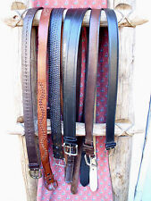Mens Leather BELT LOT XL Faux Leather Black Brown 43 44 45 Long Braided XXL