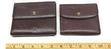 2 Etienne Aigner Leather Wallets Credit Card Holders Trifold+Change Pockets Nice