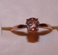 10KT 1.00  CTW ROSE GOLD  COR-DE-ROSA MORGANITE SOLITAIRE RING SIZE 10.5
