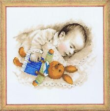 Sweet Dreams Baby Infant Child Cross Stitch Kit 35 x 35cm Riolis 1486