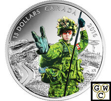 2016 Military-National Heroes Color Proof $15 Silver Coin .9999 Fine (NT)(17773)