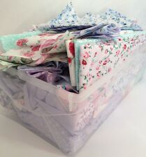 2kg Box Of Fabric Scraps Remnant Polycotton Shabby Chic Floral Vintage Pink Blue