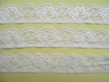 5 yards of high quality stretch lace embroidery lace White Free Shipping!