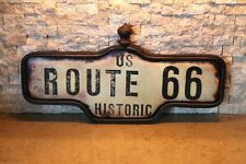 Large Route 66 Metal Street Post  Hot Rod Garage Gas Pump Diner chevy ford