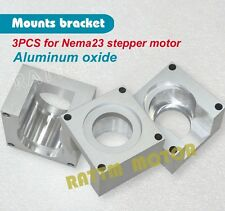 3pcs New Aluminum Nema23 Stepper Motor Mount Clamp Bracket Plasma Cutter For CNC
