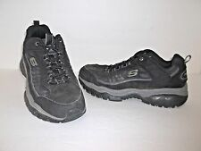 Skechers Men's Sport Energy Downforce Lace-Up Athletic Sneaker Black Size 8
