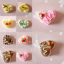 Charm Resin Heart Cake Flatback Buttons Craft Flatback Scrapbooking Accessory