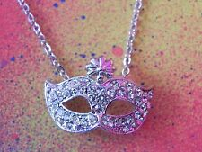 New RHINESTONE CRYSTAL MASK CHARM PENDANT & NECKLACE 50 Shades of Grey