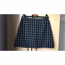 Black Checkered A-line Skirt Boohoo Size 8