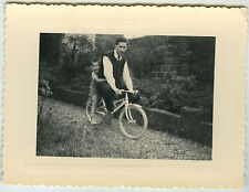 PHOTO ANCIENNE - VÉLO JOUET ENFANT GAG - BIKE TOY CHILD FUNNY - Vintage Snapshot