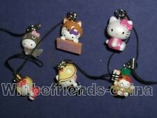 Hello Kitty Cats Figure Cell Phone Charm Strap Ornament Pendant Decoration 6pc C