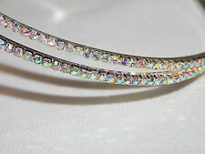 X LARGE RHINESTONES CRYSTAL BRIDAL PARTY HOOP EARRINGS