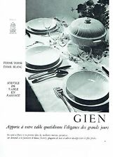 PUBLICITE ADVERTISING 126  1962  Faiencerie de Gien  service table Torse