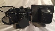ZENIT 12CD 12SD Russian SLR camera USSR w/ lens HELIOS 44M M42 case Good Cond