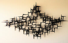 Signed Corey Ellis Mid Century Modern abstract wall metal sculpture C Jere art