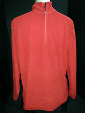 OBERMEYER Mens 1/3 Zip Front Sweatshirt Jacket Pullover Red Maroon Sz Large