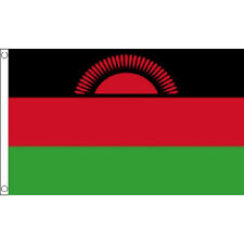 Malawi 2010-2012 Flag 5Ft X 3Ft Malawian The Red Sun Banner With 2 Eyelets