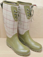 Laura Ashley Donna Verde Hunter Stivali Wellington a Scacchi Tg UK: 3,4