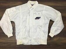 Vintage 80s Style Auto Racing Jacket Carerra Design White