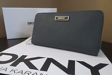 NIB DKNY Women's SLGS Saffiano Leather Wallet Iron